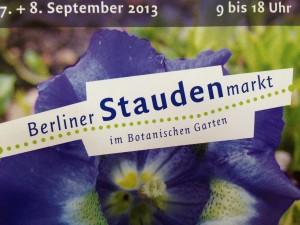 Staudenmarkt Botanischer Garten Berlin im September 2013