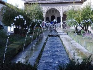 Wasserspiele vor dem Generalife